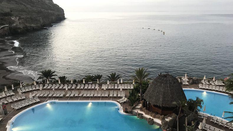 Alle Zimmer im Taurito Princess haben Blick auf den Atlantik und die Bucht von Taurito.
