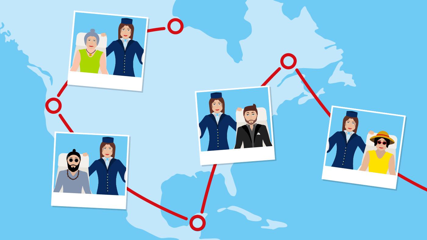 In meinem Job als Flugbegleiterin bei TUI fly treffe ich auf die unterschiedlichsten Menschen