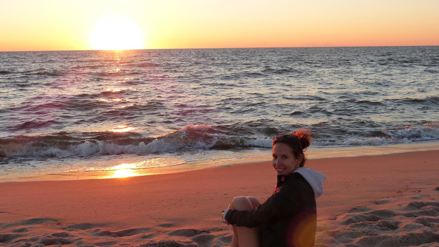 Anja an der Ostsee