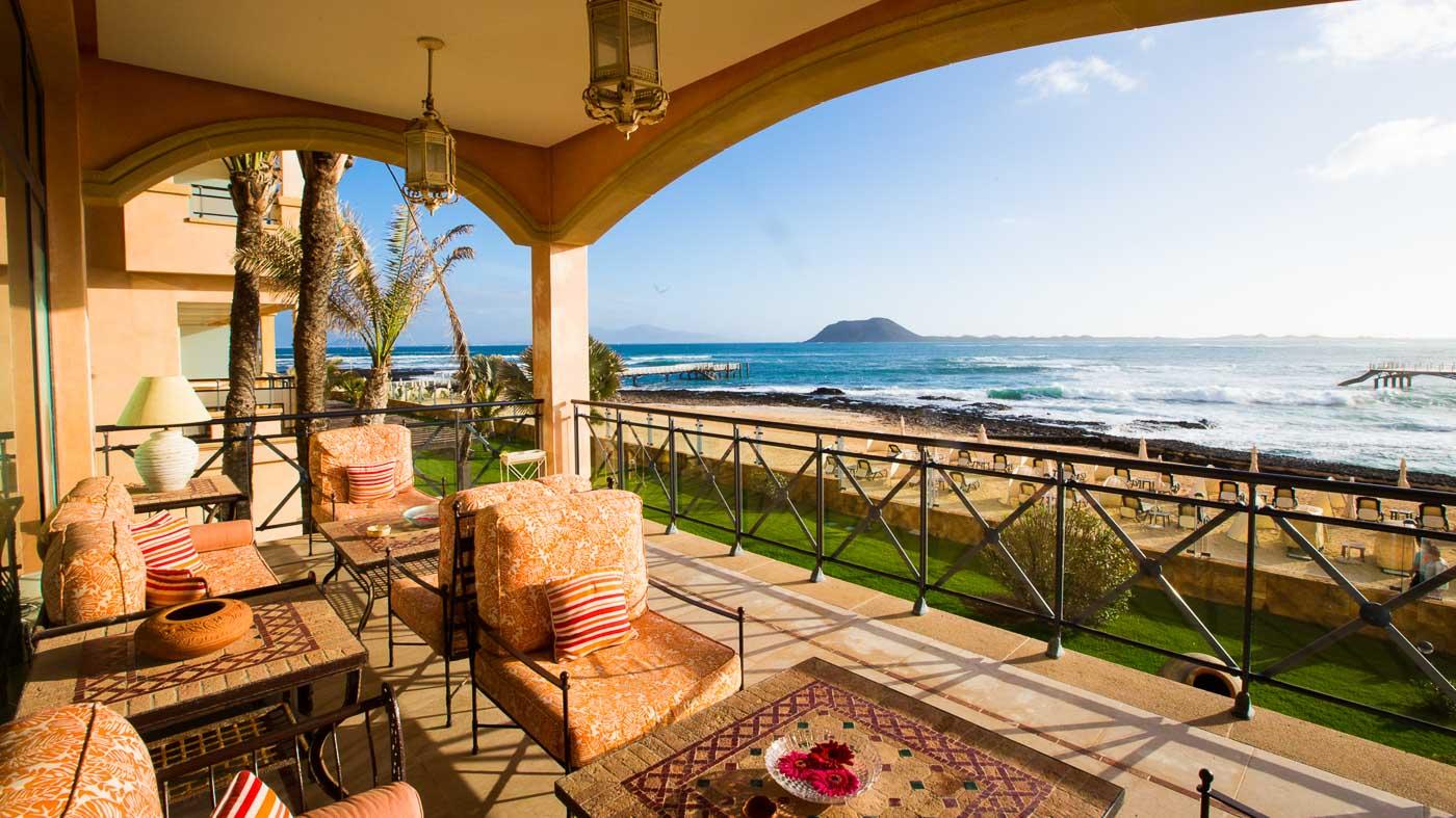 Traumhafter Ausblick vom Gran Hotel Atlantis Bahia Real aus