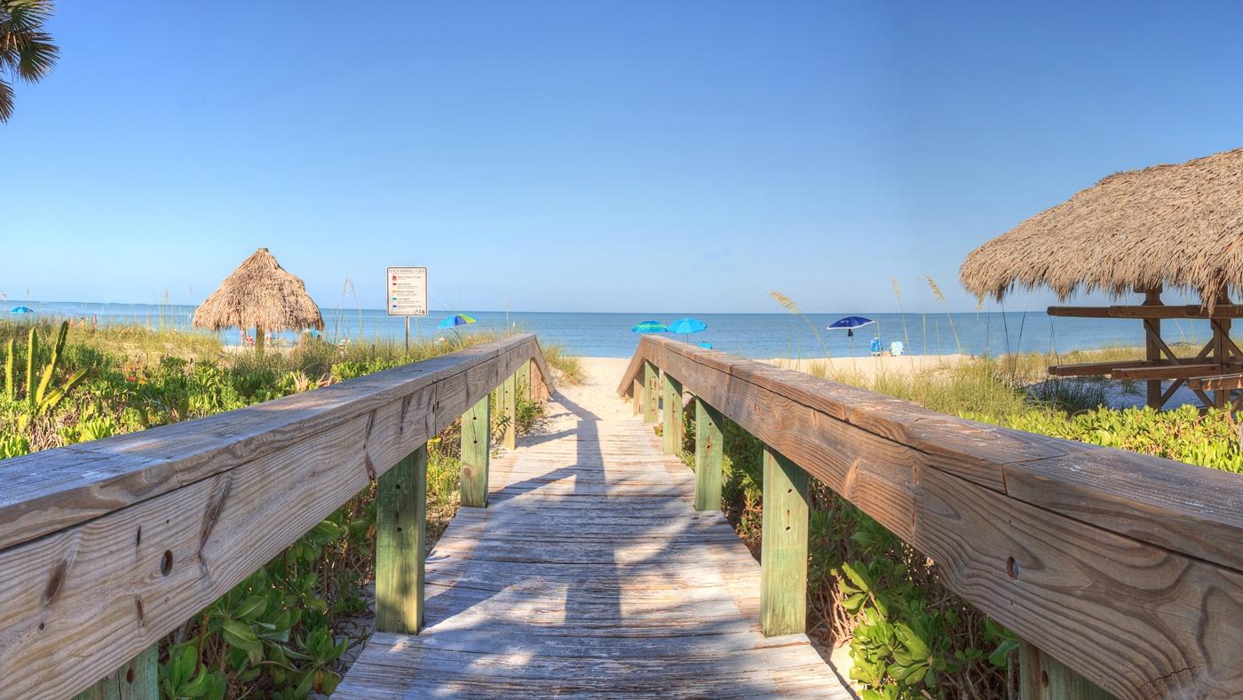 Der Lowdermilk Beach in Naples Florida