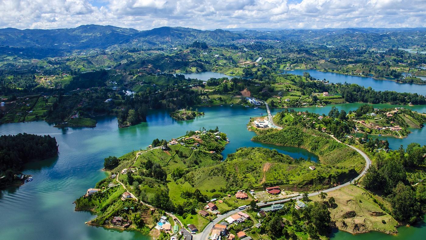 Ausblick vom Rock of Guatape in Medellin