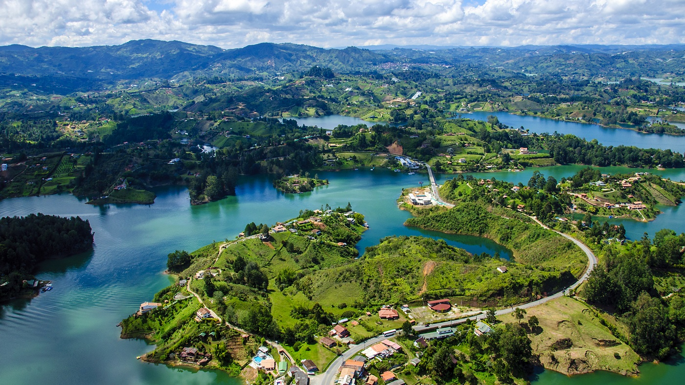 Ausblick vom Rock of Guatape in Medellin