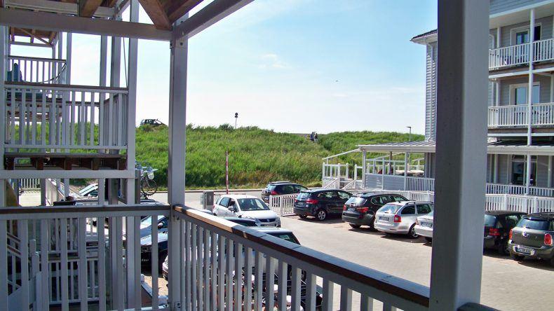 Unser Balkon im BeachMotel