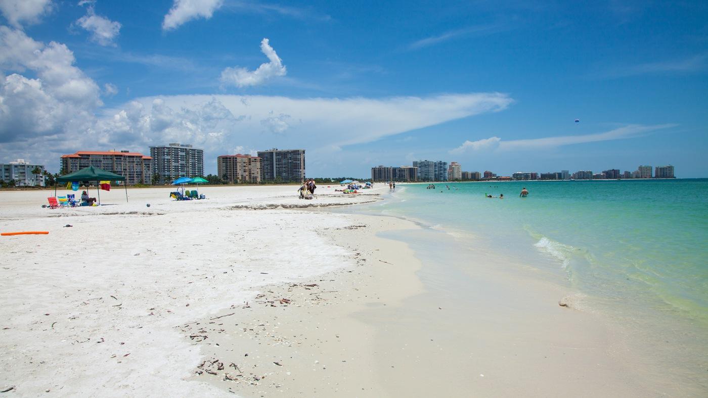 Karibische Strände auf Marco Island: Hier der Marco Beach