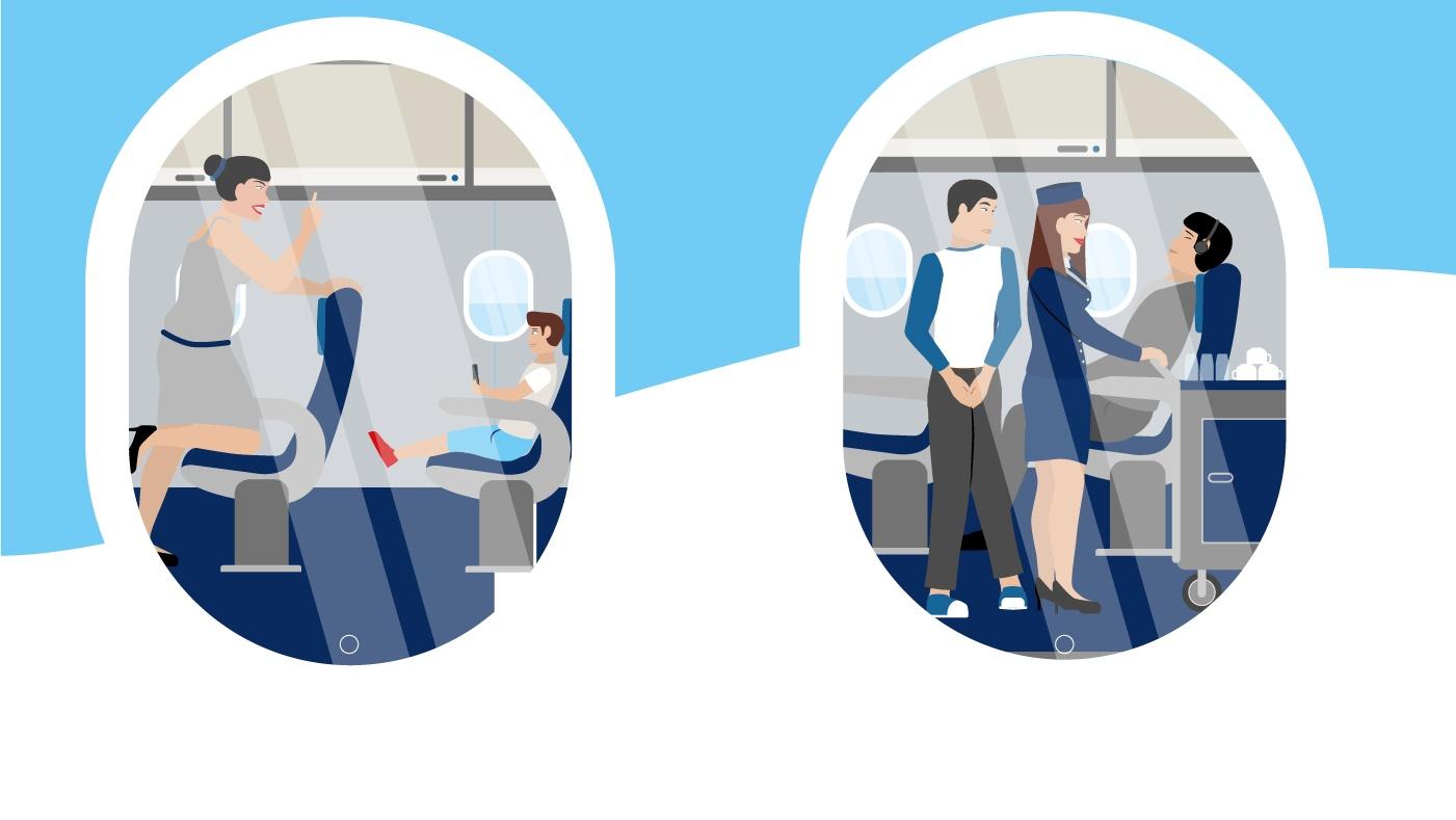 Gott sei Dank eher selten: Die Gattung Unfreundlich (links im Bild). Dafür umso öfter: Der Toilettengänger