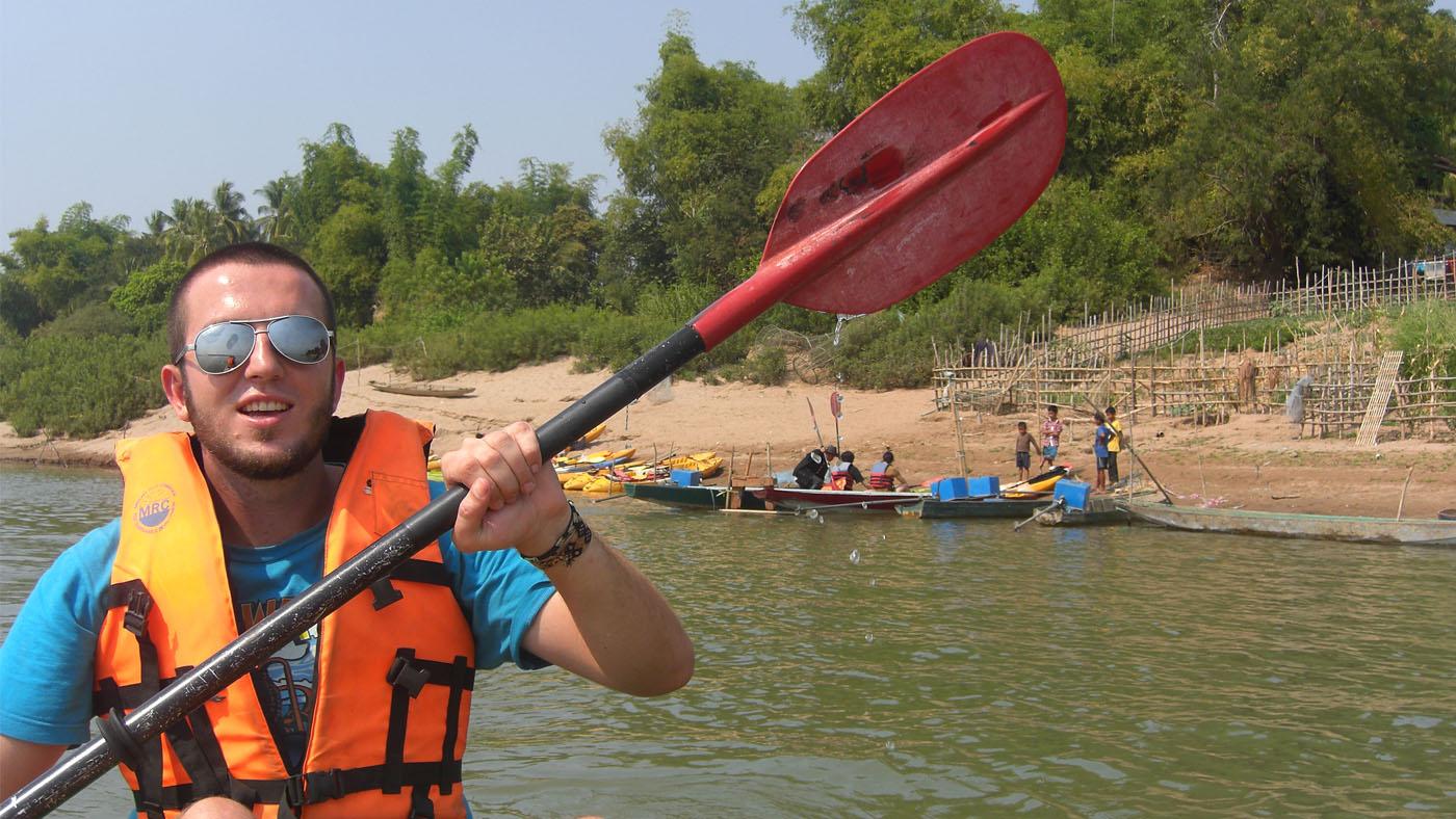 Kajak-Tour auf dem Mekong inklusive Delfinbeobachtung