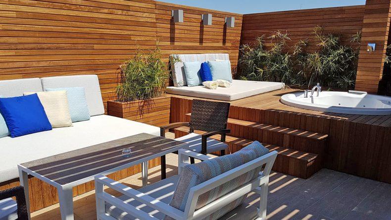Die Designer Suite 360 glänzt mit Dachterrasse...