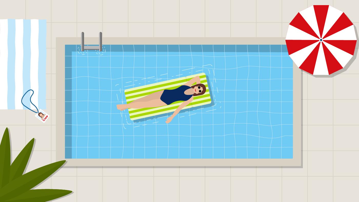 Der Pool gehört mir ganz allein!