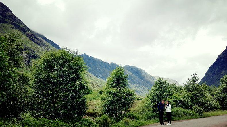 Pause in den Highlands