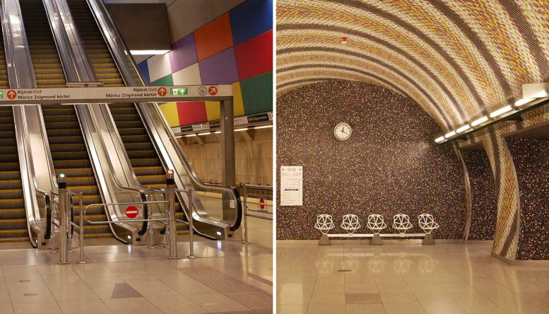 Zwei Stationen der Metro 4.