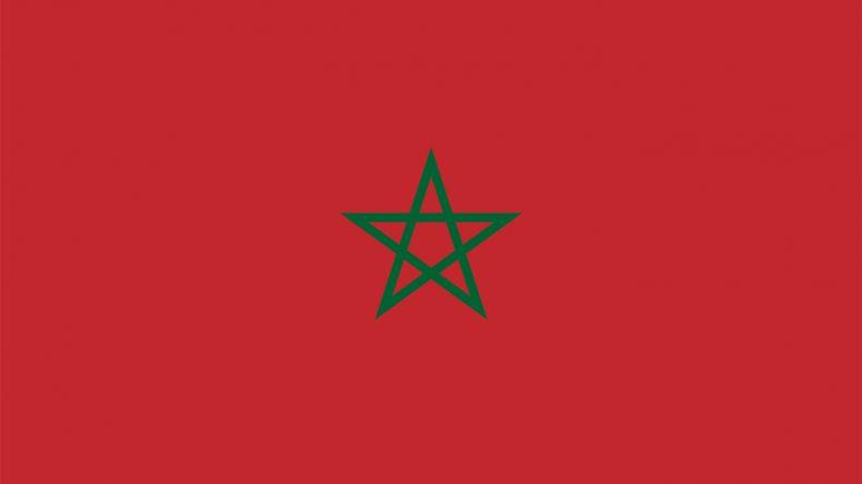 Die Flagge von Marokko zeigt in der Mitte ein grünes Pentagram - das Siegel des Salomon