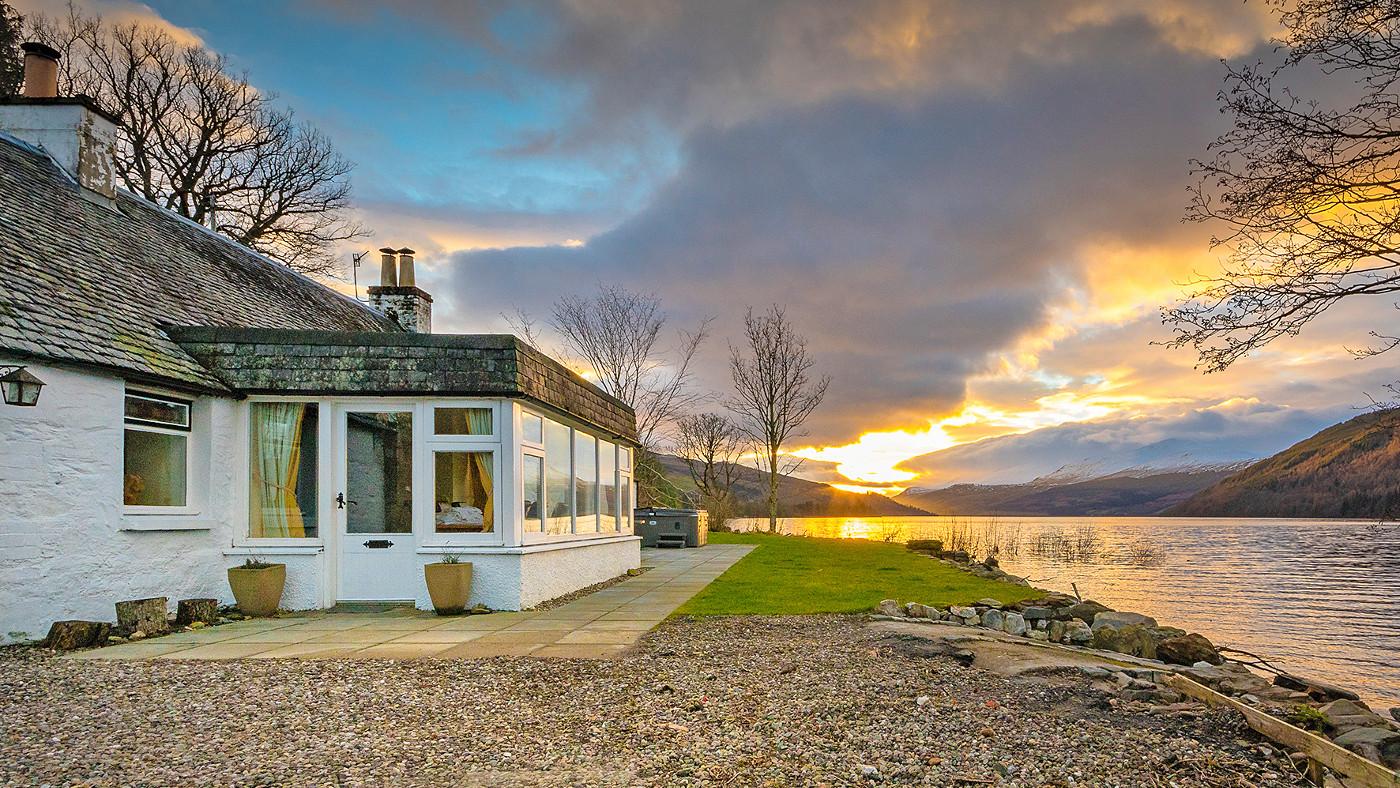 Ferienhaus in Schottland direkt am Loch Tay