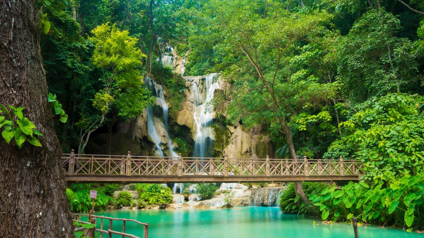 Kuang Si Wasserfall in Luang Prabang