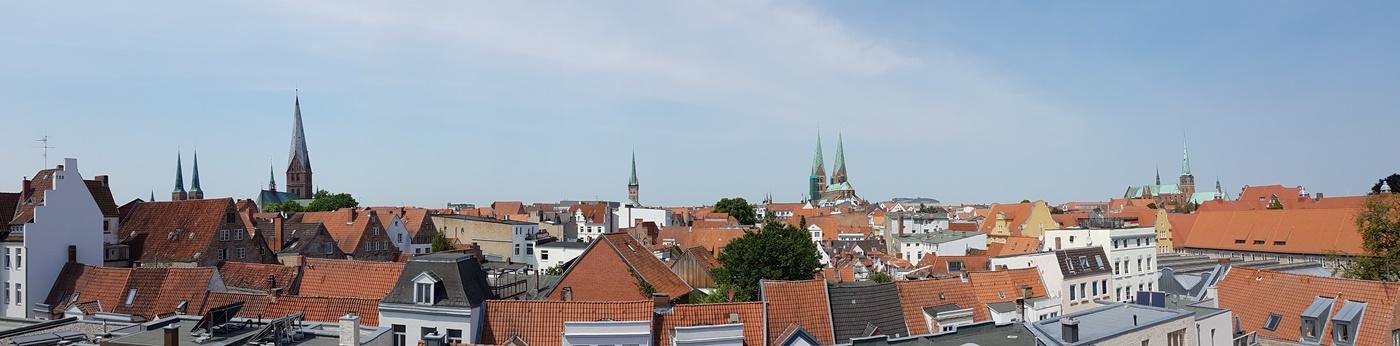 7 auf einen Streich - Lübeck von oben