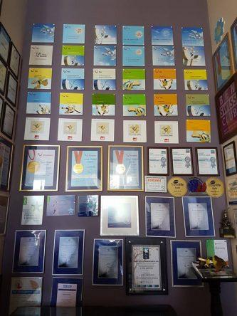 Die zahlreichen Auszeichnungen des Arum Barut Collection. Auch in diesem Jahr hat es sämtliche TUI Awards erhalten.