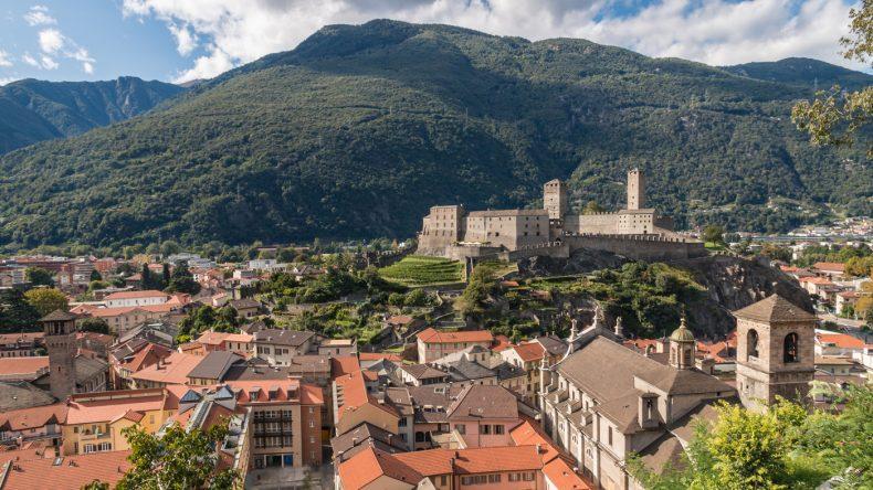 das Castelgrande, eine der drei Burgen von Bellinzona