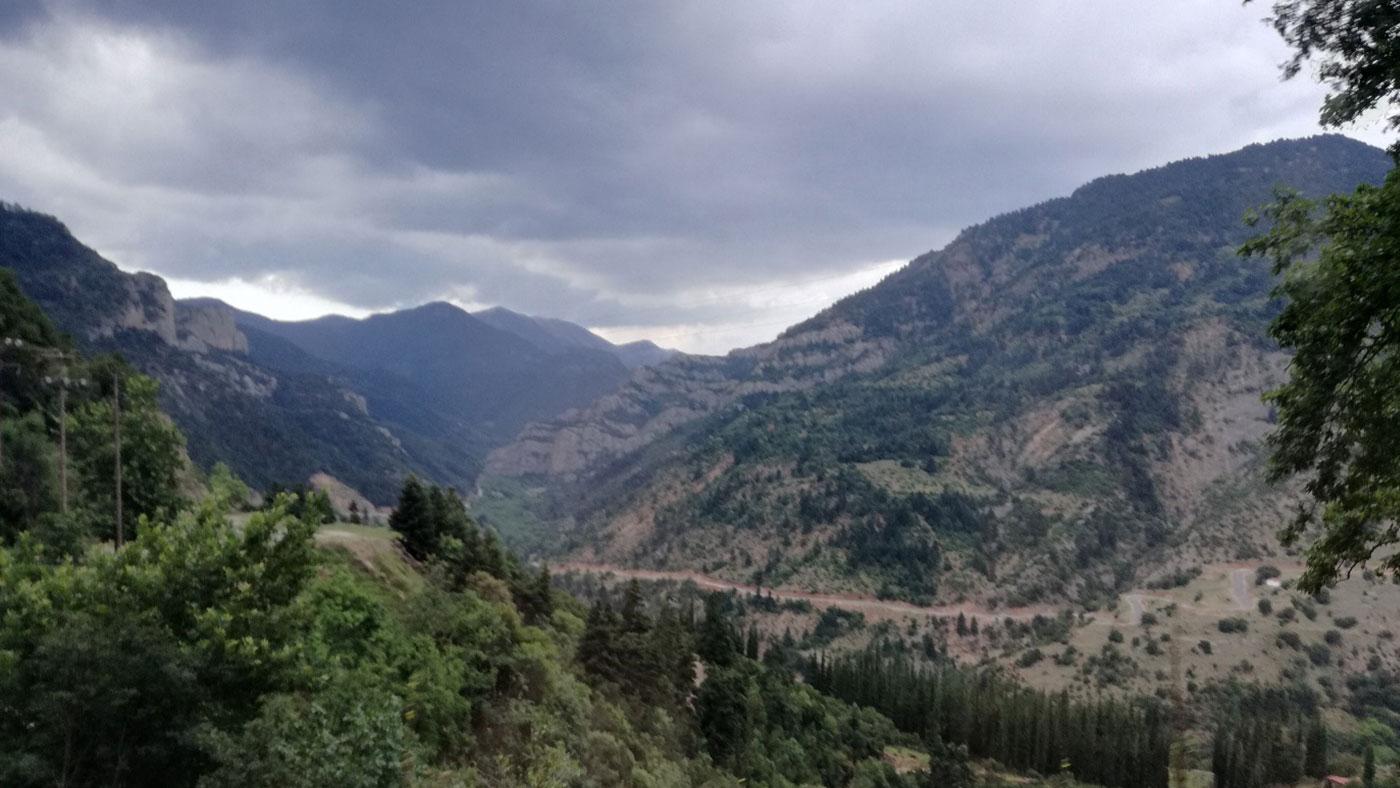 Ein Schnappschuss von dem Kalavryta Canyon
