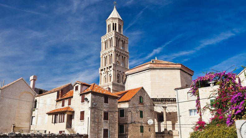 Der Diokletianspalast in der Altstadt in Split