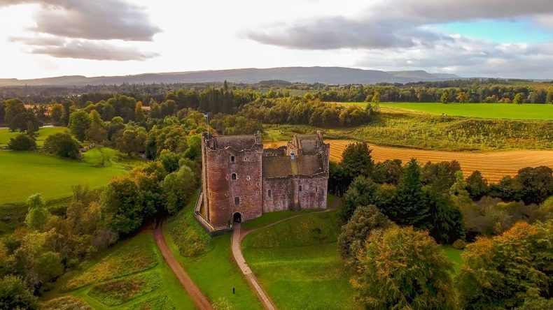 Das Doune Castle in den Highlands