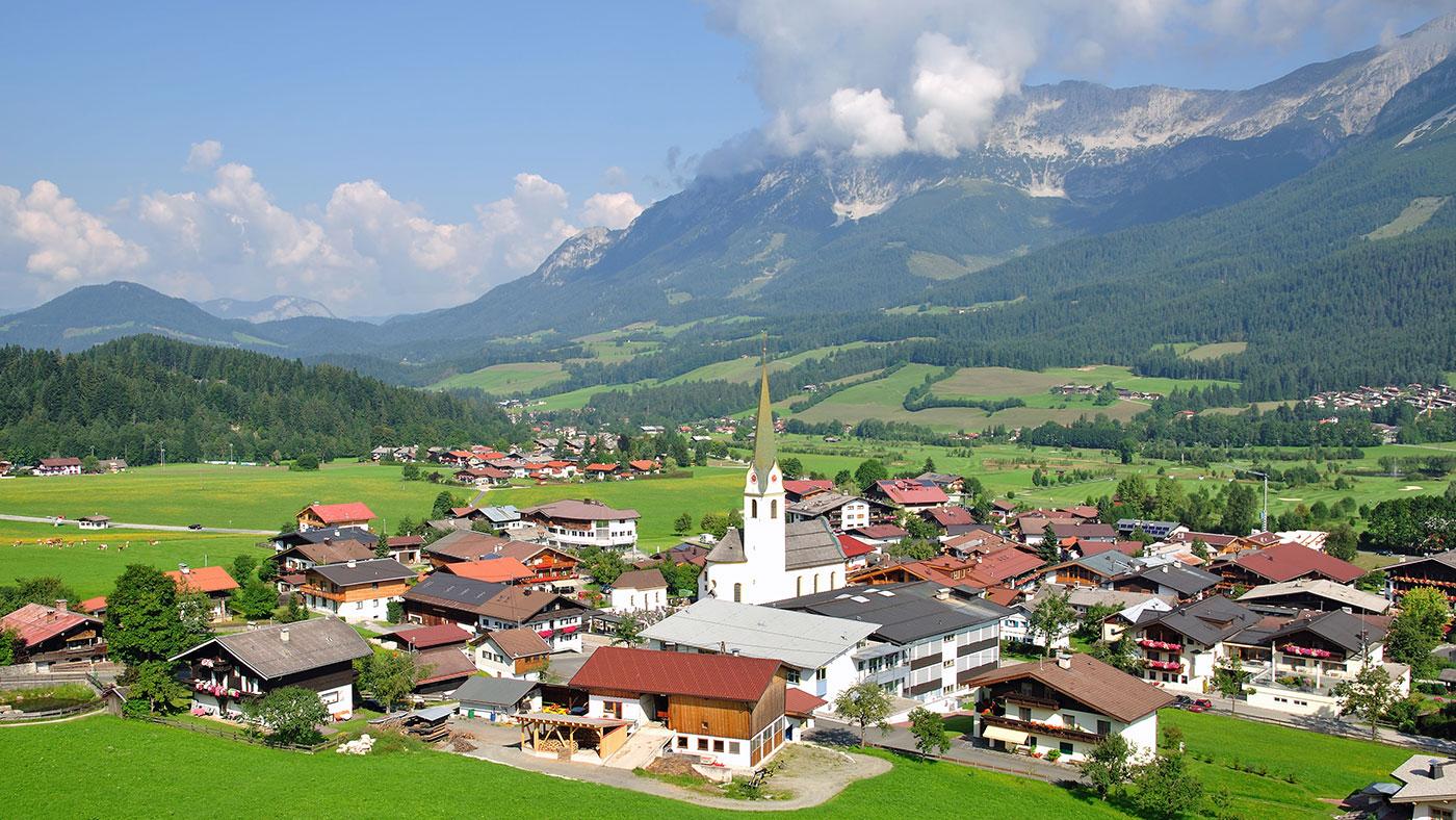 In Ellmau, Südtirol befinden sich viele Kulissen