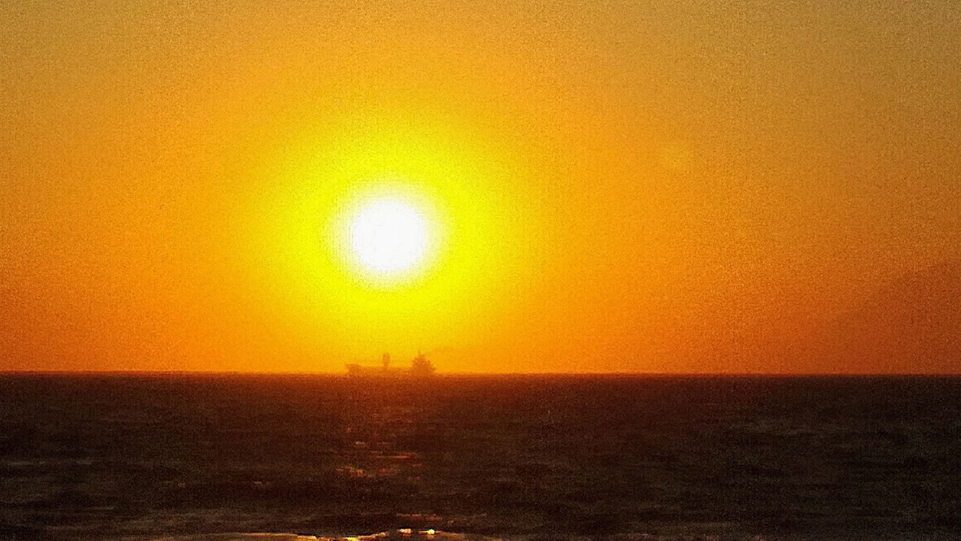 Eines der vielen Fotos: Kyllini Beach mit Blick auf Kefalonia