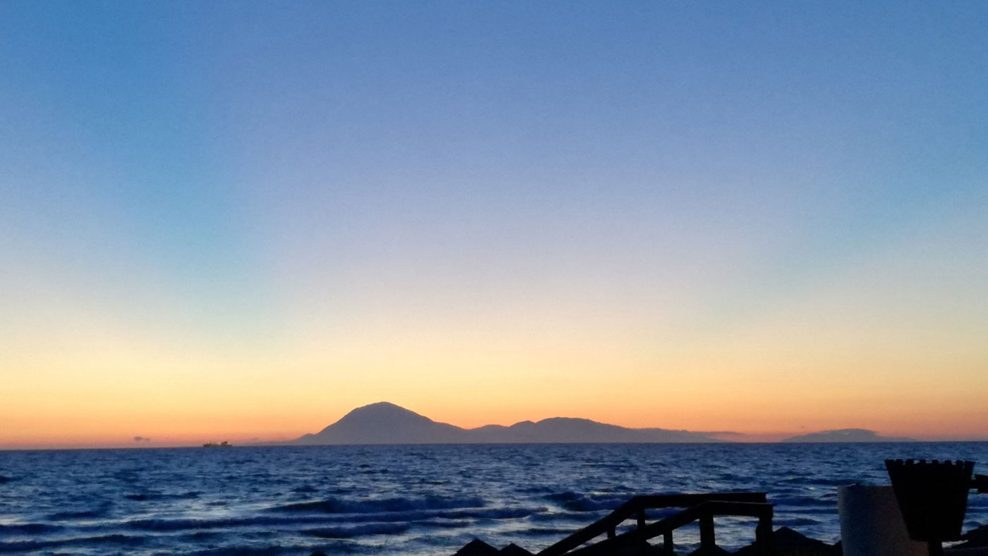 Sonnenuntergang über Kefalonia am Kyllini Beachkefalonia