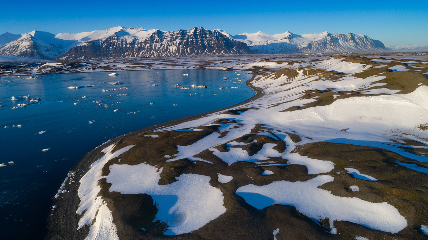 "Der Gletscher ""Vatnajökull"" in Island"