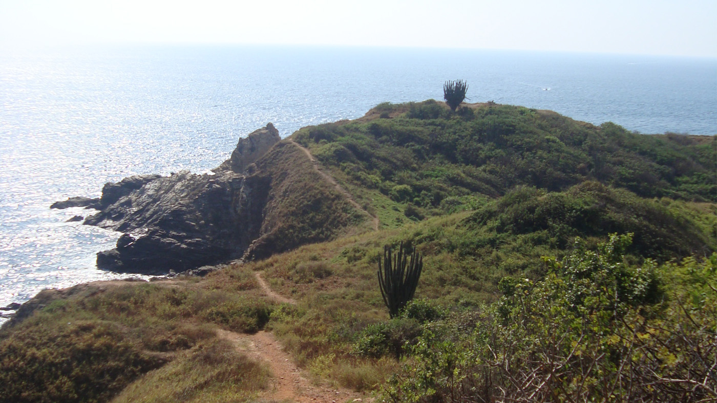 Vom nahegelegenen Punta Cometa hat man einen tollen Ausblick auf Mazunte, Meer und Sonnenuntergang.