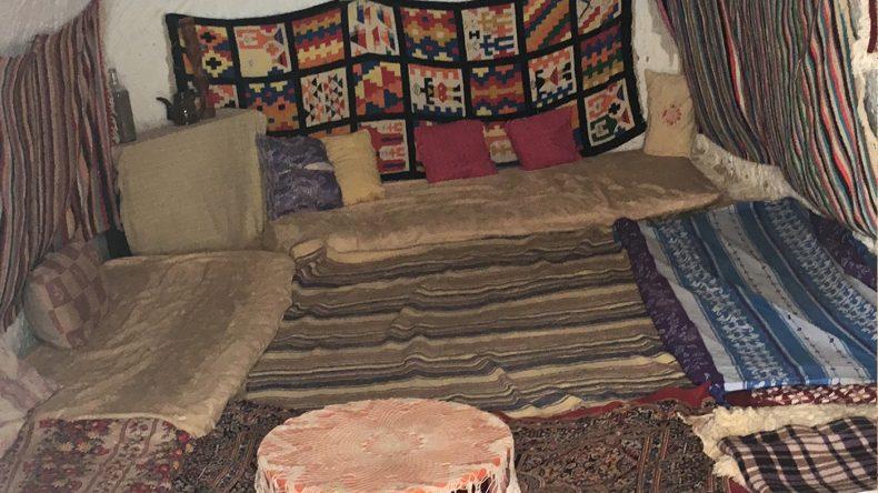 So sieht beispielsweise ein Wohnzimmer bei den Berbern aus