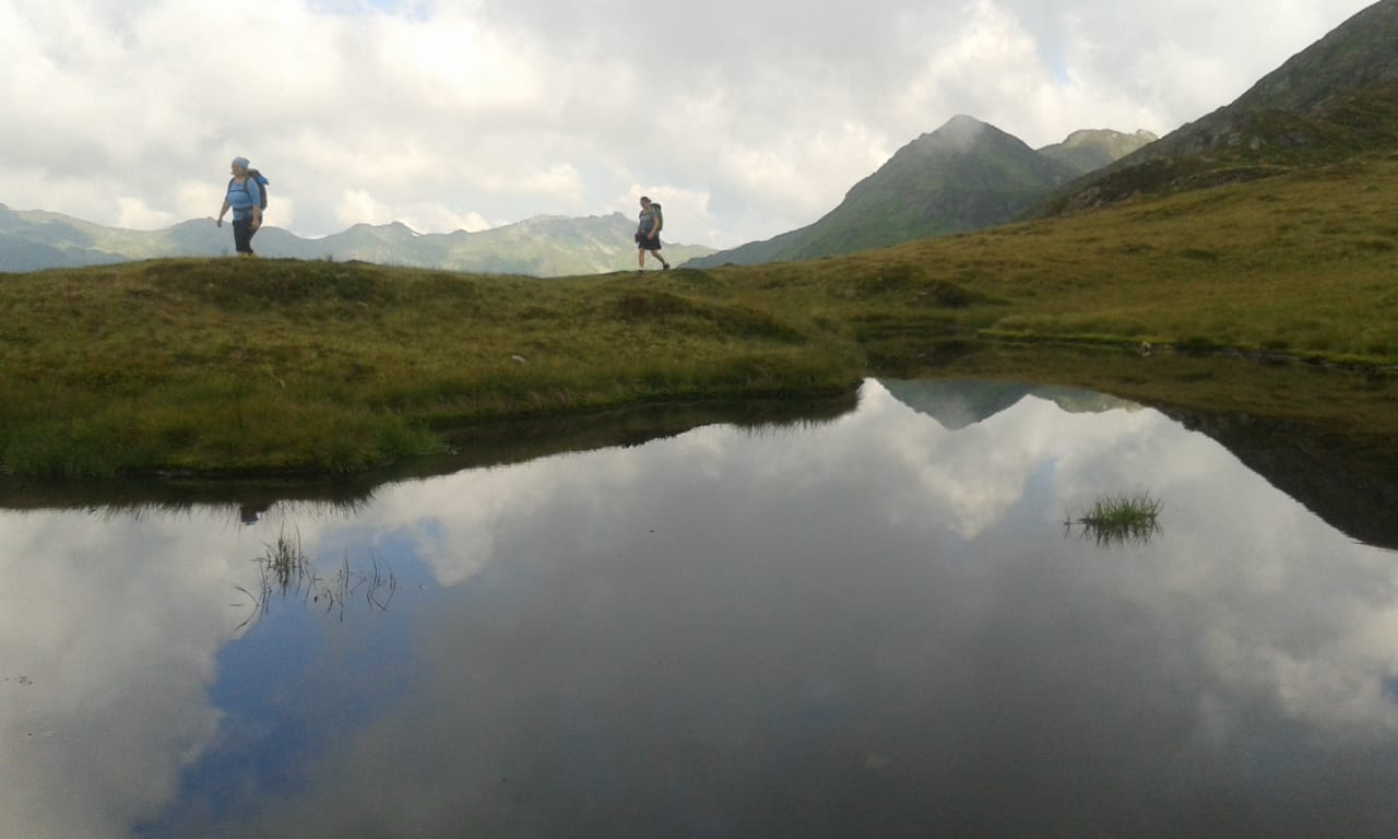 Wunderschöne Landschaften warten an jeder Ecke, hier auf der Etappe von der Rastkogelhütte nach Melchboden