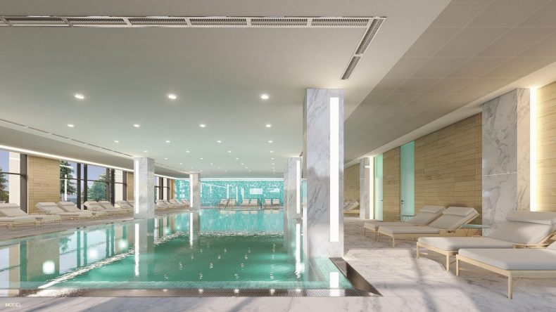 Schön entspannen im hoteleigenen Wellnessbereich (Modellbild)