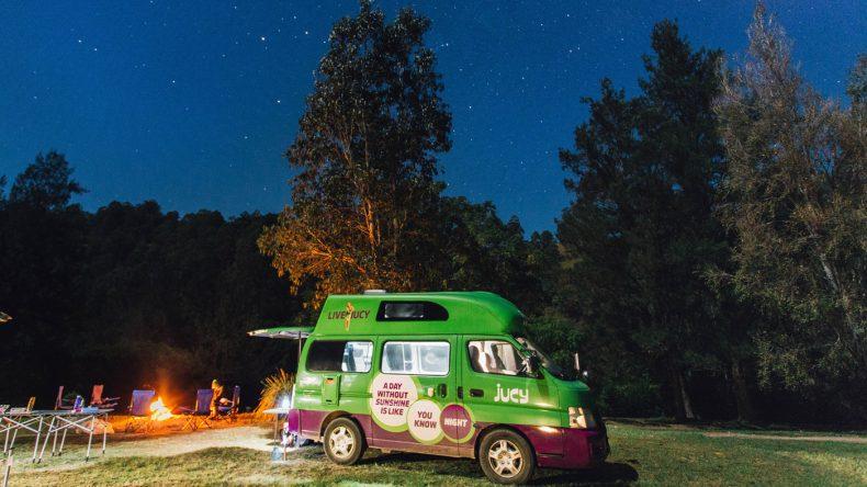 oder im Wald unter dem Sternenhimmel