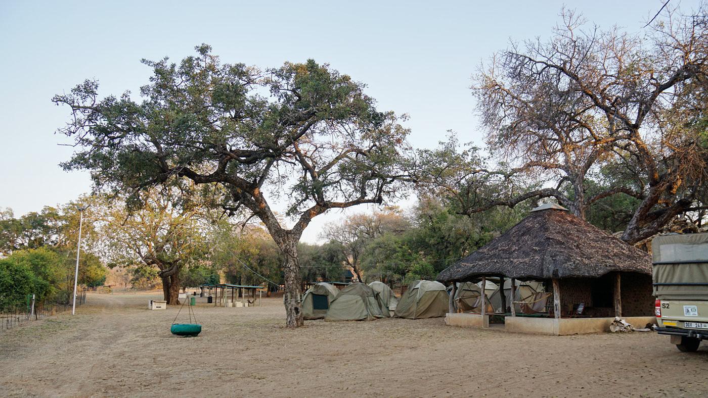Im Sefapane Tended Camp wird übernachtet