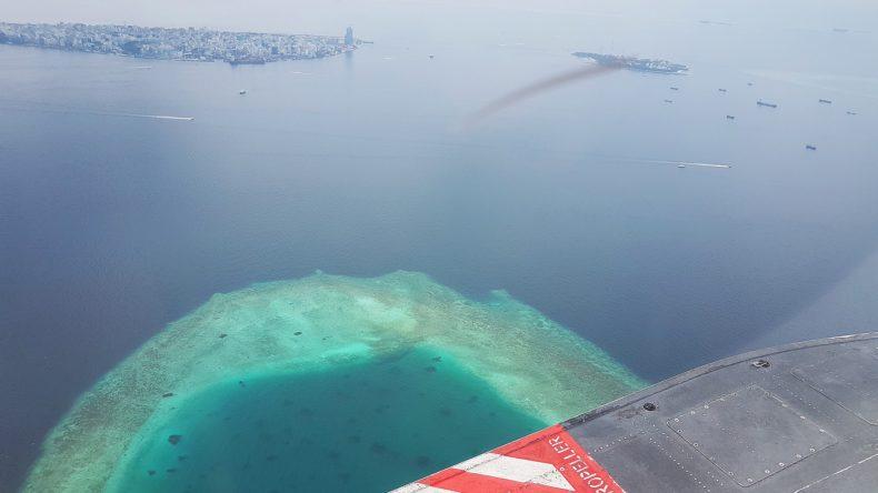 Die Anreise auf Kuramathi mit dem Wasserflugzeug ist wirklich spektakulär