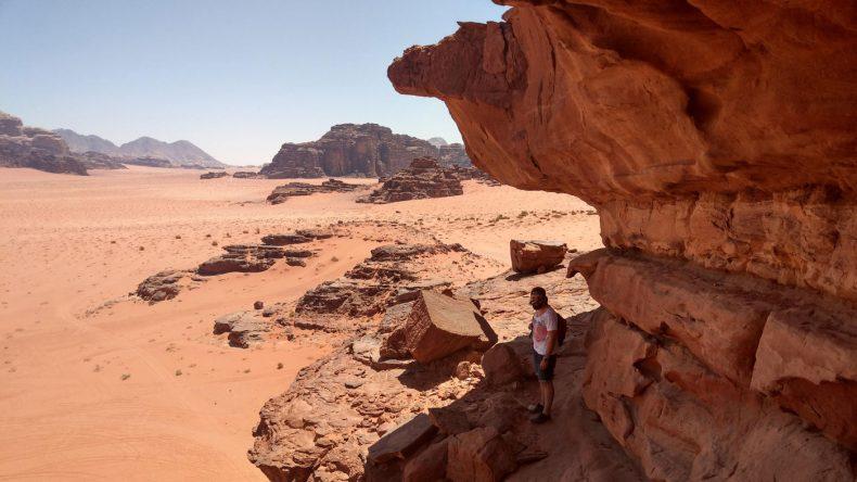 Aufstieg am Khazali Canyon in Jordanien
