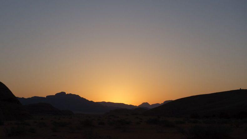 Sonnenuntergang in Wadi Rum Jordanien