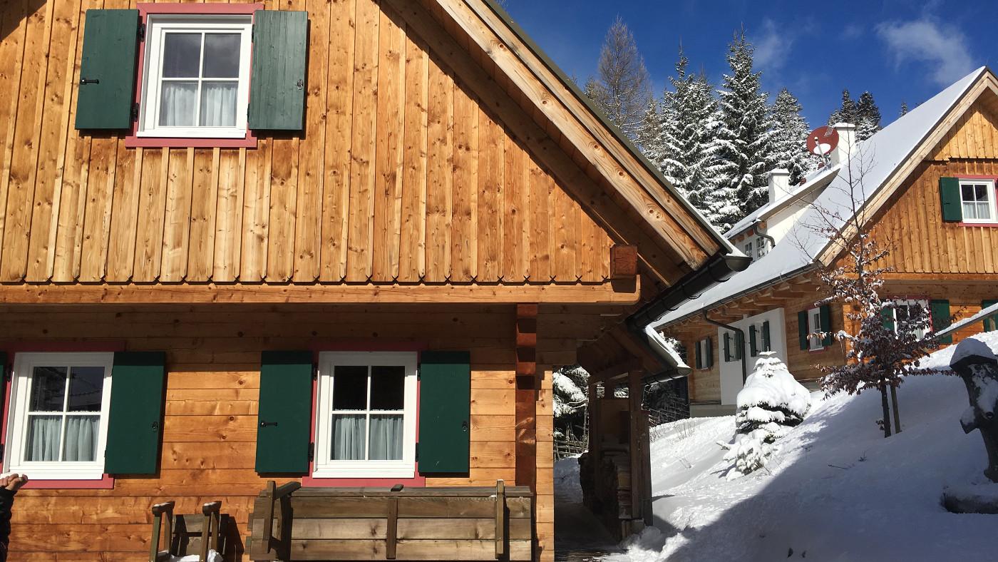 Diese schöne Hütte liegt im Klippitztörl, einer Urlaubsregion für die ganze Familie