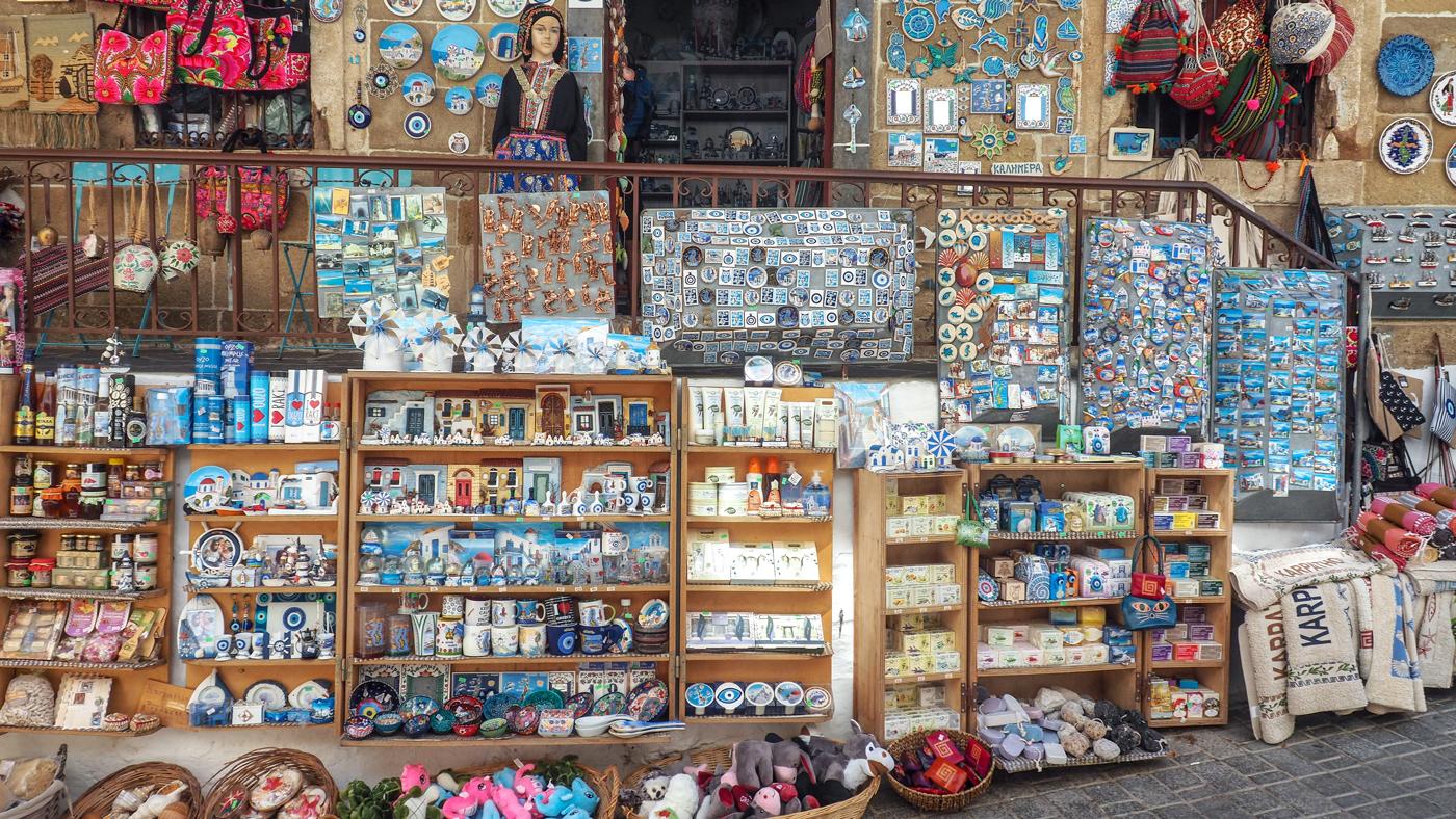 Souvenirs in den Gassen von Pegadia