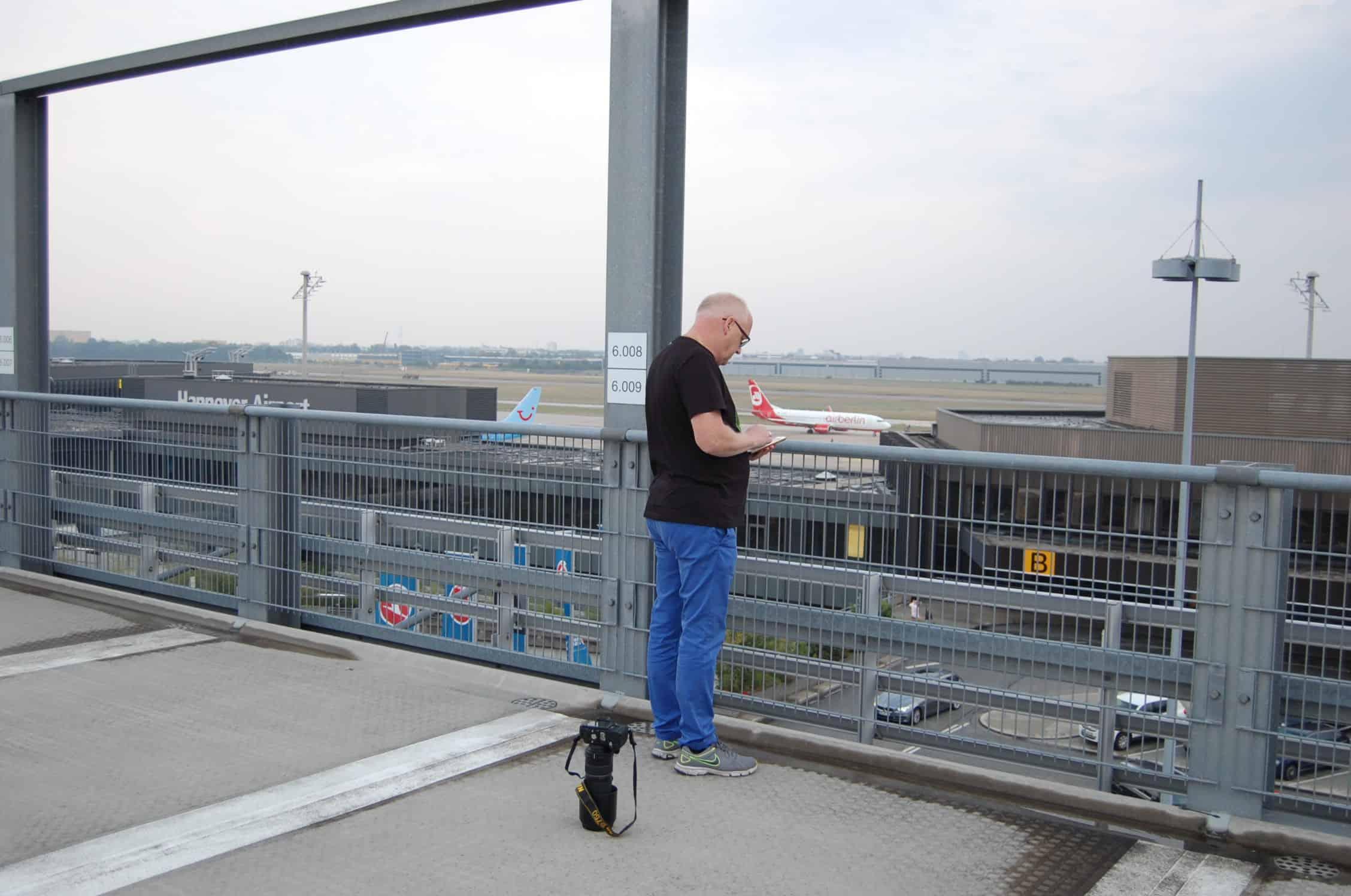 Flugzeug Spotter am HAJ Airport