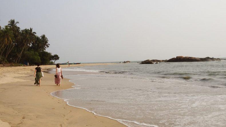 Angekommen im Paradies und wir haben den ganzen Strand für uns.