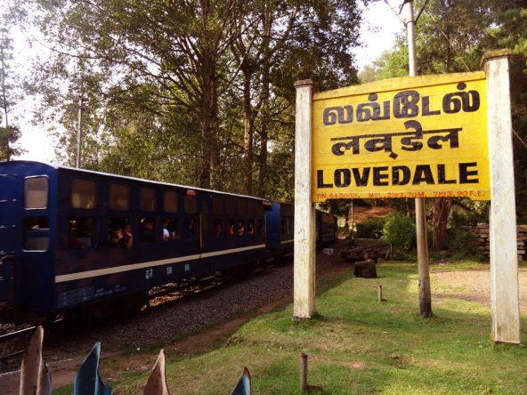 Von Lovedale ging es mit dem Zug nach Coonoor.