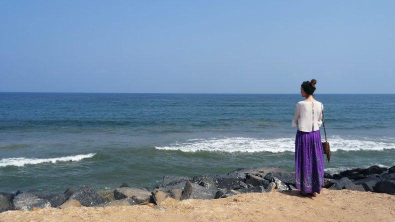Blick auf den indischen Ozean.