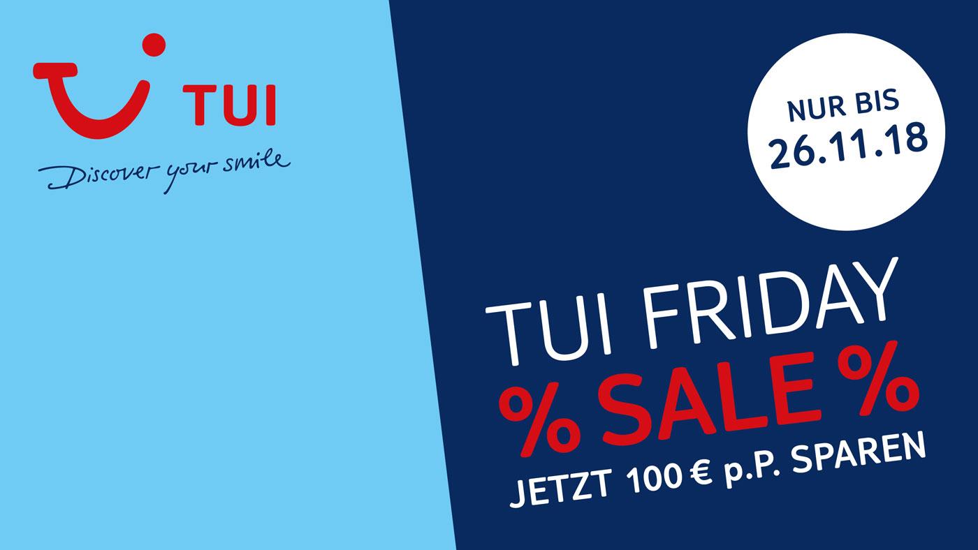 Jetzt 100 Euro pro Person extra sparen mit unseren TUI Friday Sale Angeboten