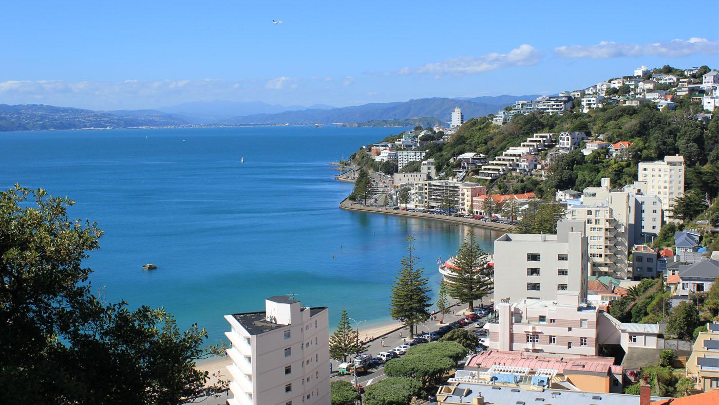 Offiziell ist Wellington eine der windigsten Städte der Welt - uns präsentiert sie sich aber ganz handzahm.