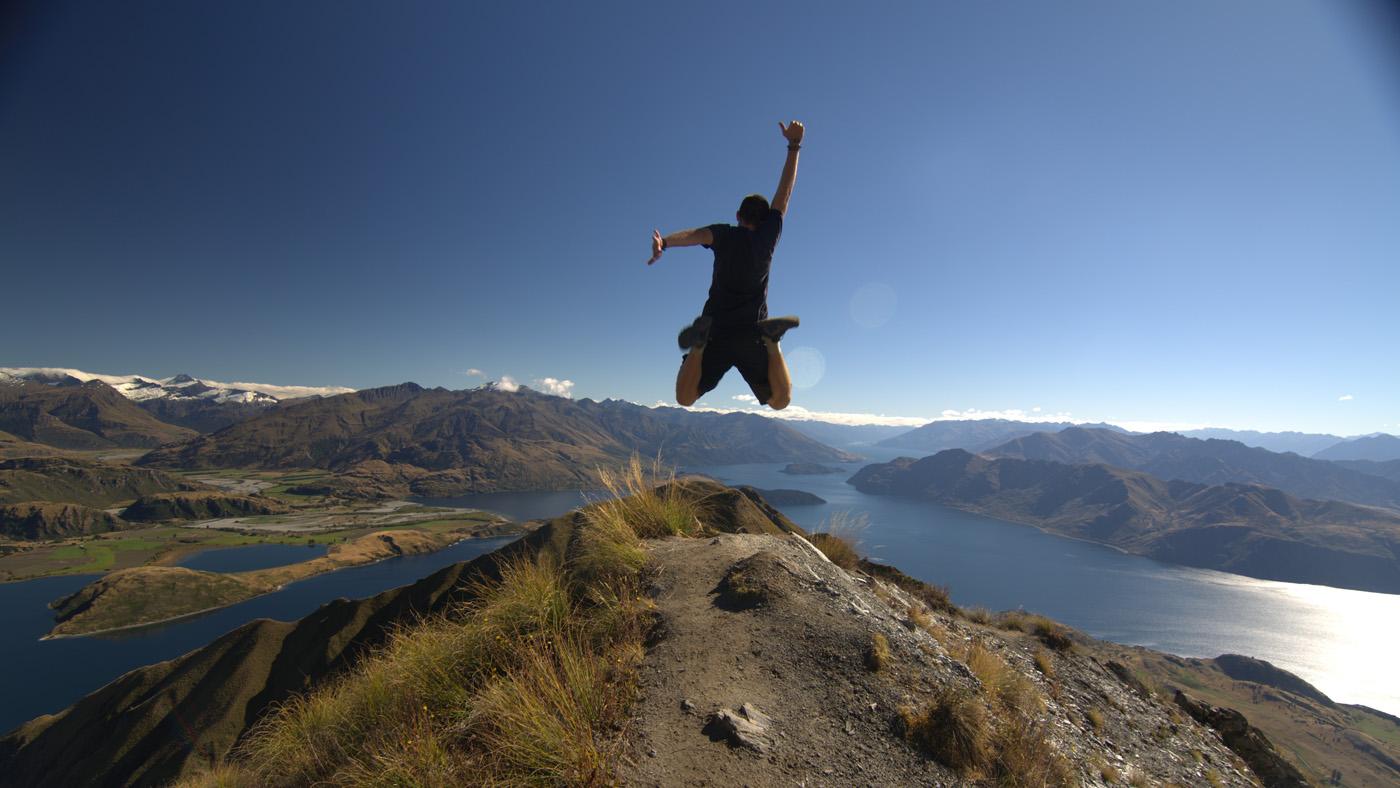 Vom Mount Roy hat man einen tollen Ausblick über den Lake Wanaka bis hin zu den Südalpen.
