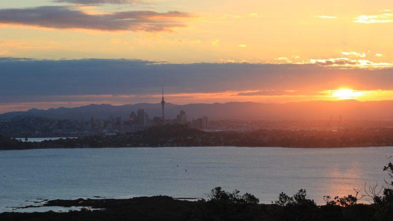 Von Rongitoto Island hat man einen tollen Panoramablick auf Auckland.