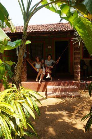 Unser Hostel lag verborgen in einem Wald aus Bananenstauden.