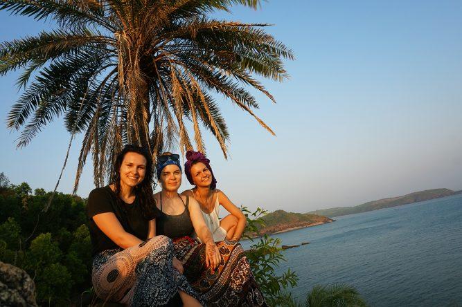 Unser Lieblingsplatz mit Blick auf den gesamten Strand.