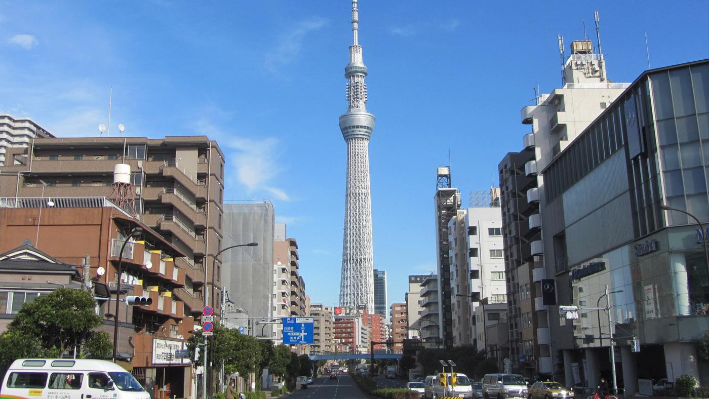 Mit 634 m ist der Tokyo Sky Tree das höchstes Bauwerk Japans.